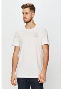 Biały t-shirt Jack & Jones z nadrukiem, na co dzień