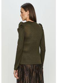 Zielony sweter Jacqueline de Yong z długim rękawem, długi