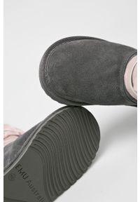 Szare botki EMU Australia na sznurówki, z cholewką