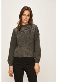 only - Only - Sweter. Kolor: szary. Materiał: dzianina