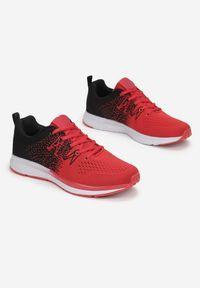 Born2be - Czerwono-Czarne Buty Sportowe Soterelaus. Kolor: czerwony