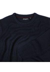 Niebieski sweter Brave Soul z okrągłym kołnierzem, casualowy
