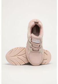 Różowe buty sportowe Big-Star z cholewką, na sznurówki
