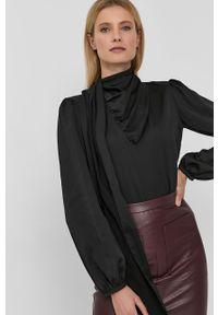 Nissa - NISSA - Bluzka. Okazja: na co dzień. Kolor: czarny. Materiał: tkanina. Długość rękawa: długi rękaw. Długość: długie. Wzór: gładki. Styl: casual
