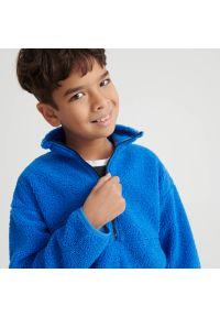 Reserved - Bluza sherpa - Niebieski. Kolor: niebieski