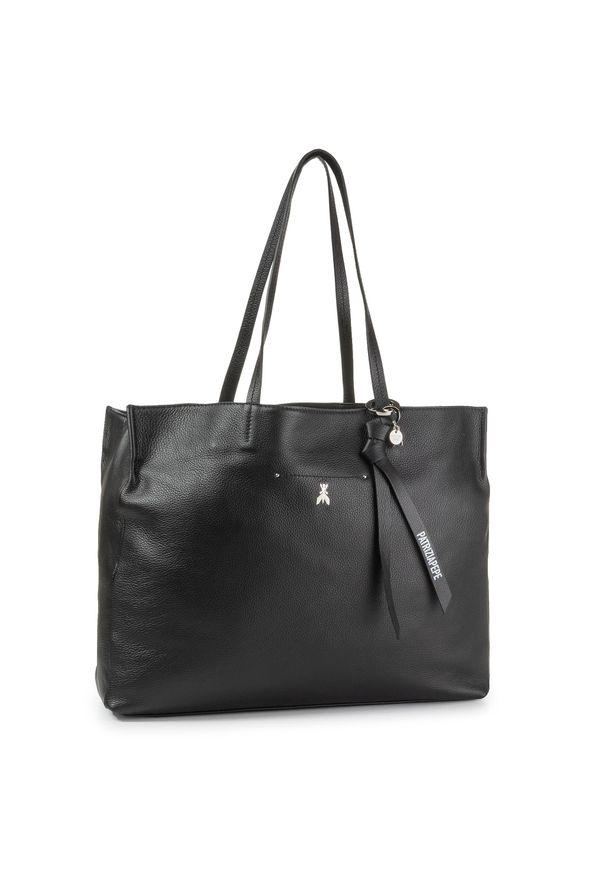 Czarna torebka klasyczna Patrizia Pepe klasyczna