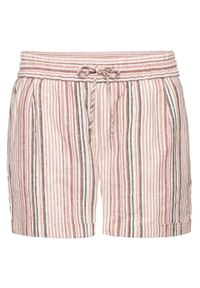 Brązowe spodnie bonprix w paski