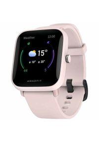 Różowy zegarek AMAZFIT sportowy, smartwatch