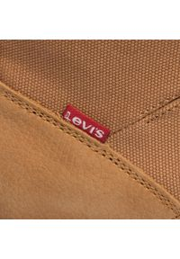 Brązowe buty zimowe Levi's® casualowe, z cholewką, na co dzień