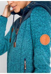 Bluza rozpinana z polaru bonprix ciemnoniebieski melanż. Typ kołnierza: kaptur. Kolor: niebieski. Materiał: polar. Wzór: melanż