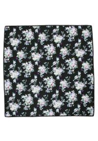 Czarna poszetka Alties w kwiaty