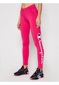 Champion Legginsy Large Script Logo 112857 Różowy Athletic Fit. Kolor: różowy