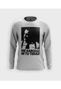 MegaKoszulki - Koszulka męska z dł. rękawem Nie Karoluj mi tu. Materiał: bawełna