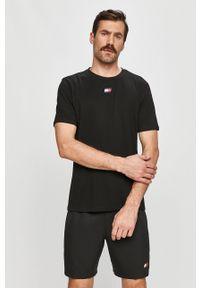 Czarny t-shirt Tommy Sport na co dzień, sportowy