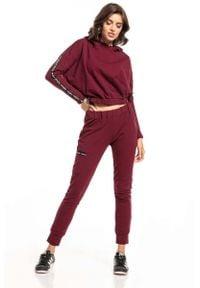 Czerwone spodnie dresowe Tessita