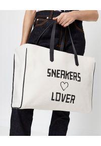 GOLDEN GOOSE - Torba Sneakers Lovers. Kolor: czarny. Wzór: nadruk, aplikacja. Styl: casual. Rodzaj torebki: na ramię