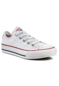 Białe półbuty Converse z cholewką, casualowe, na co dzień