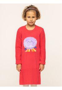 Różowa sukienka Billieblush prosta, casualowa, na co dzień