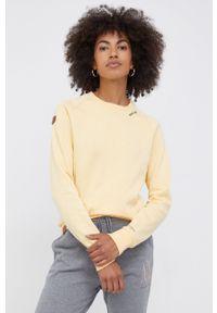Pepe Jeans - Bluza Priscila. Okazja: na co dzień. Kolor: żółty. Materiał: dzianina. Długość rękawa: długi rękaw. Długość: długie. Styl: casual