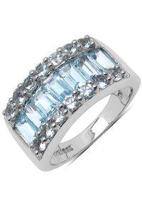 Braccatta - BELINDA Srebrny pierścionek obrączka blue topaz 3,5 ct. Materiał: srebrne. Kolor: srebrny. Kamień szlachetny: topaz