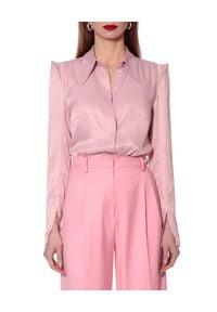 AGGI - Bluzka z jedwabiem Stevie. Kolor: fioletowy, różowy, wielokolorowy. Materiał: jedwab. Długość rękawa: długi rękaw. Długość: długie