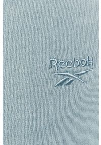 Niebieskie spodnie dresowe Reebok Classic gładkie
