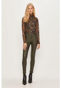 Zielone spodnie materiałowe Jacqueline de Yong