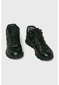 Czarne sneakersy New Balance na sznurówki, z cholewką, New Balance 574