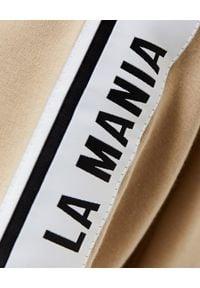LA MANIA - Beżowa bluza z kapturem. Typ kołnierza: kaptur. Kolor: beżowy. Materiał: dresówka, bawełna. Styl: elegancki
