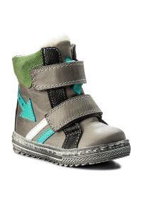Szare buty zimowe Mido z cholewką przed kolano, z cholewką