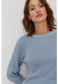 Vero Moda - Sweter. Okazja: na co dzień. Kolor: niebieski. Materiał: dzianina. Długość rękawa: raglanowy rękaw. Styl: casual