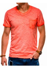 Pomarańczowy t-shirt Ombre Clothing