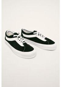 Vans - Tenisówki skórzane. Nosek buta: okrągły. Kolor: czarny. Materiał: skóra