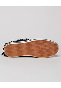 PALM ANGELS - Wysokie trampki z frędzlami. Kolor: czarny. Materiał: guma. Szerokość cholewki: normalna. Wzór: aplikacja