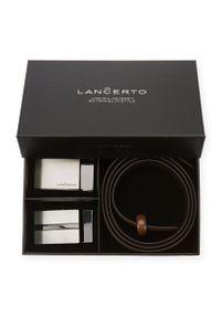 Lancerto - Pasek Automat John z Wymiennymi Klamrami. Materiał: materiał, skóra. Styl: casual, elegancki