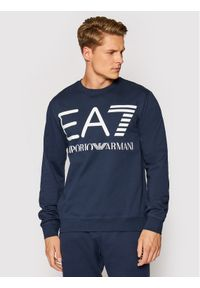 EA7 Emporio Armani Bluza 6KPM68 PJBWZ 1554 Granatowy Regular Fit. Kolor: niebieski