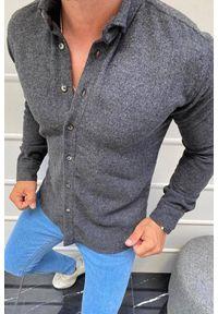 Szara koszula IVET z długim rękawem, długa