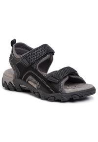 Czarne sandały Superfit klasyczne, na lato