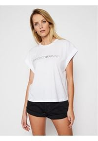 Emporio Armani T-Shirt EMPORIO ARMANI 262633 1P340 71610 Biały Regular Fit. Kolor: biały