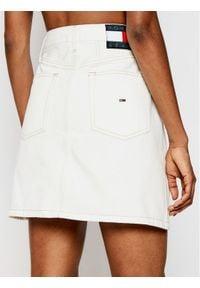 Biała spódnica jeansowa Tommy Jeans