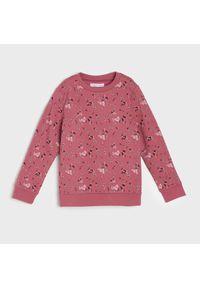Różowa bluza Sinsay w kwiaty