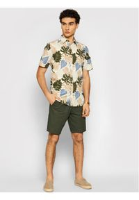 Only & Sons - ONLY & SONS Szorty materiałowe Leo 22019201 Zielony Regular Fit. Kolor: zielony. Materiał: materiał