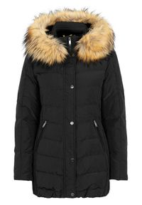 Czarna kurtka SAKI na zimę, elegancka