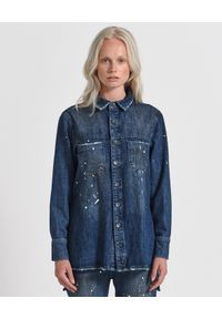 ONETEASPOON - Koszula Pop cult. Kolor: niebieski. Materiał: jeans, materiał