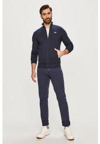 Niebieska bluza nierozpinana Lacoste z aplikacjami, casualowa, bez kaptura #5
