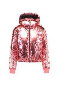 Różowa kurtka narciarska Perfect Moment z kapturem, krótka
