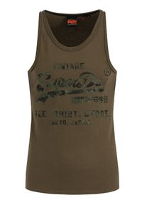 Zielony tank top Superdry vintage