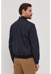 Niebieska kurtka TOMMY HILFIGER casualowa, gładkie, na co dzień