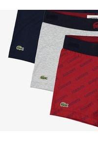 Lacoste - LACOSTE - Kolorowe bokserki 3-pack. Kolor: szary. Materiał: bawełna. Wzór: kolorowy