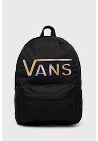 Vans - Plecak. Kolor: czarny. Wzór: aplikacja